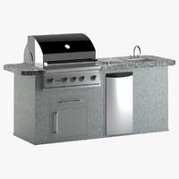 3d model wolf terrace grill