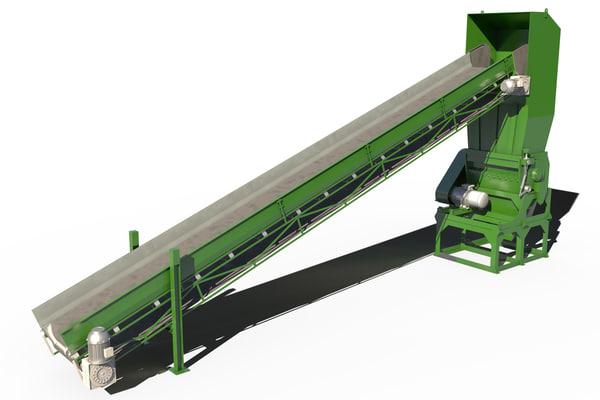 recycling machine 3d model