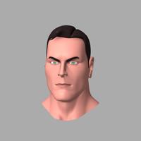 3d man head model