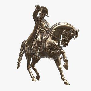 napoleon cherbourg monument 3d obj