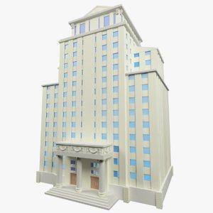 3d model background building