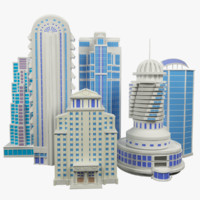 3d set skyscraper
