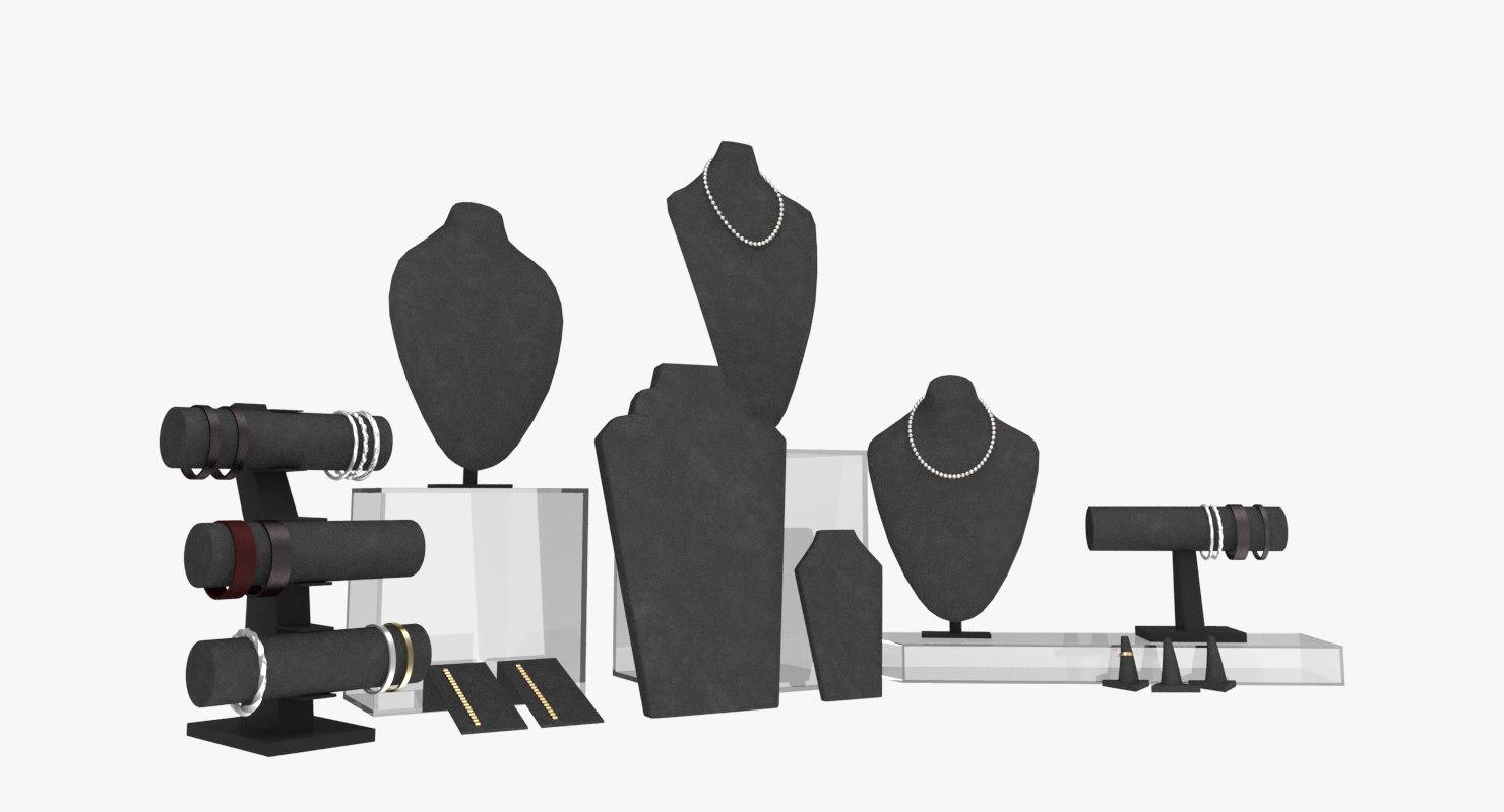 3d model jewelry display