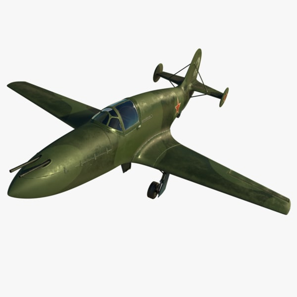 3d model bereznyak-isayev bi-1 fighter bereznyak