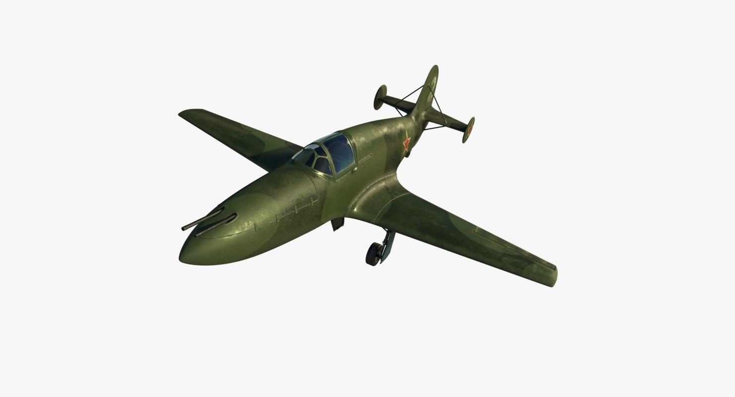 3d model bereznyak-isayev bi-1 fighter bereznyak