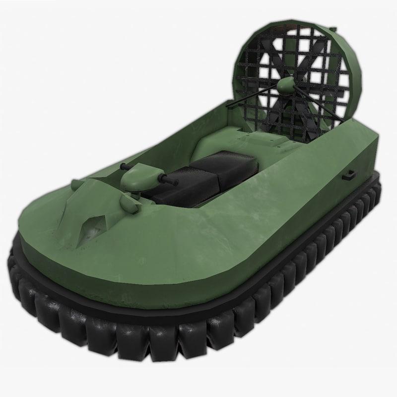 3d hovercraft hover craft model