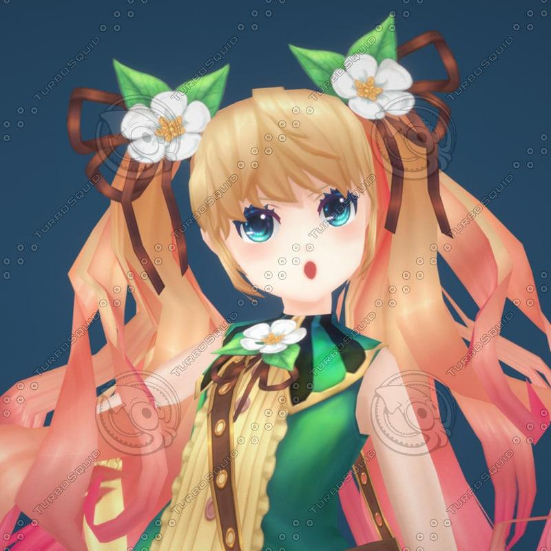 3d x anime girl