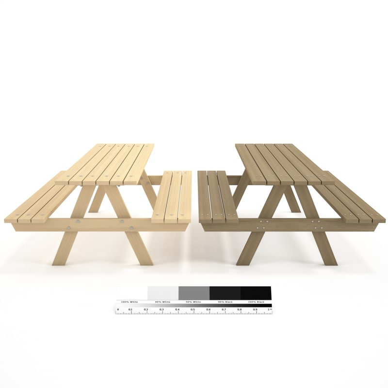 wooden wood bench 3d max