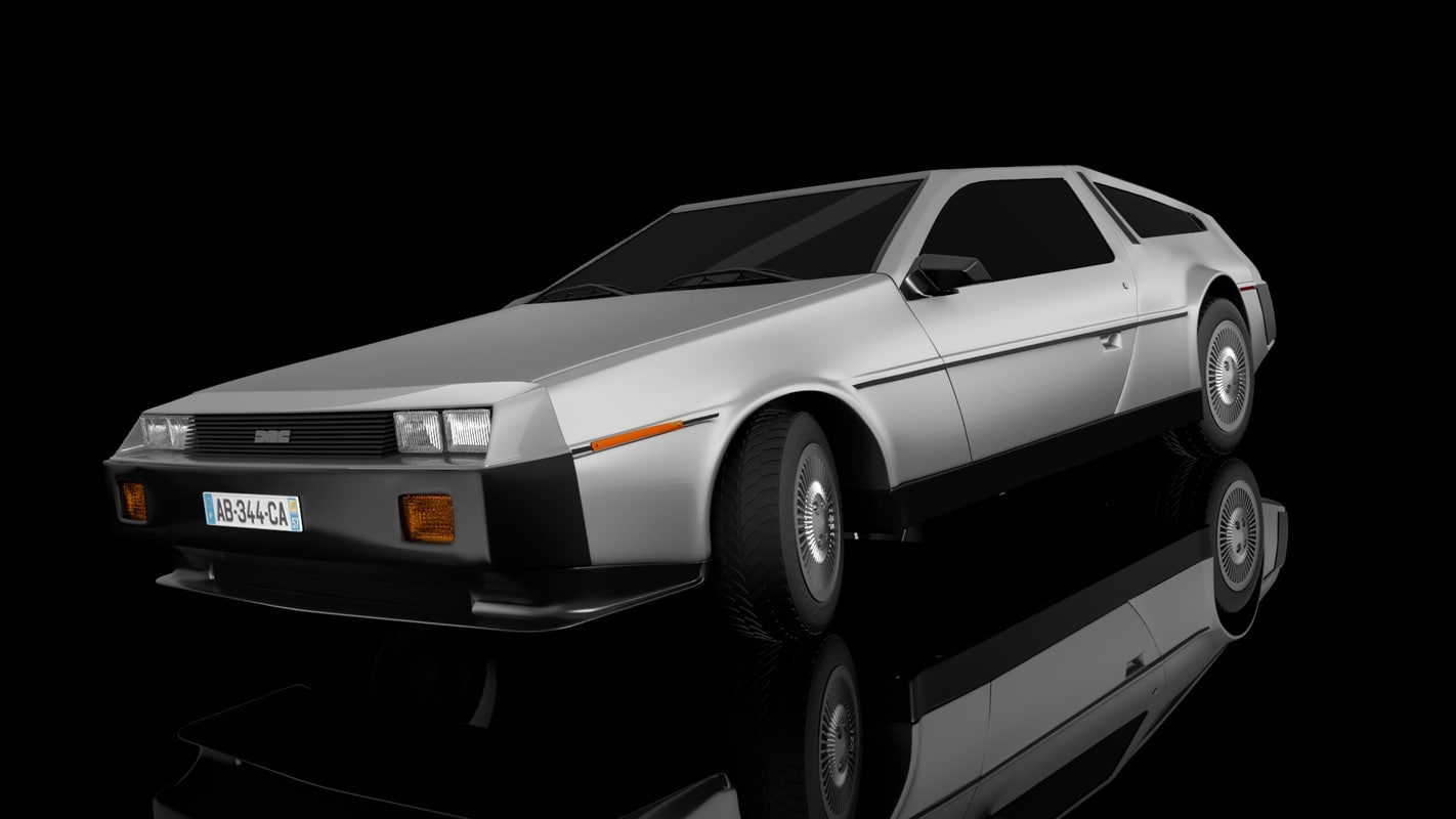 3d model delorean dmc car