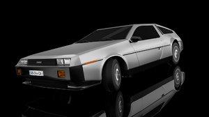 3d model delorean dmc car