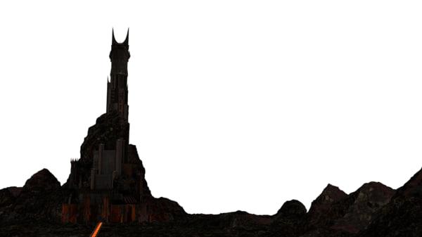 3d model dark tower barad-dur