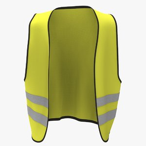 yellow road security jacket 3d model