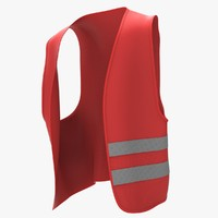 red safety jacket obj