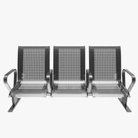 3d model public seats