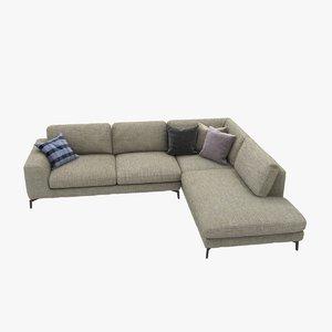 3d sofa custom italian corner model