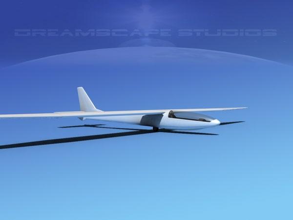 glider zefir 4 3d model