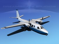 3d model of propellers rockwell turbo commander 690