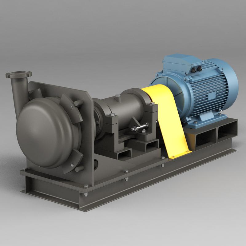 3d pump sand model