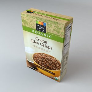 3ds box organics cocoa rice