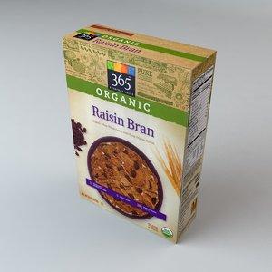 3ds box organic raisin bran