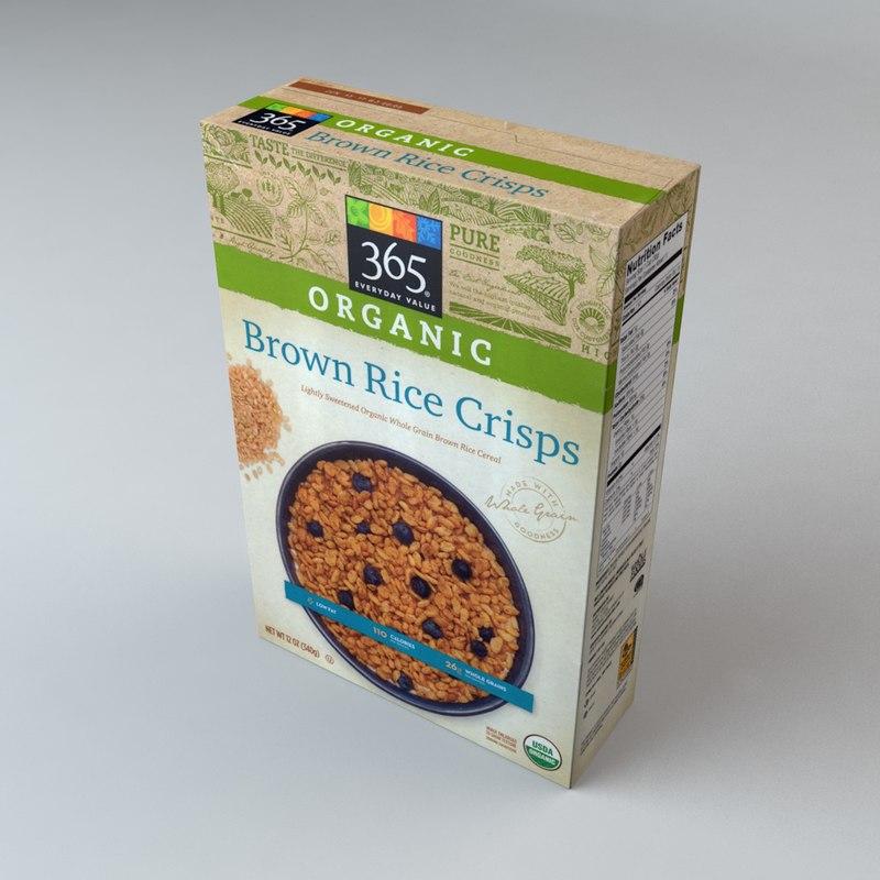 3d model box organics brown rice