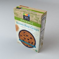 3d model box organics brown rice