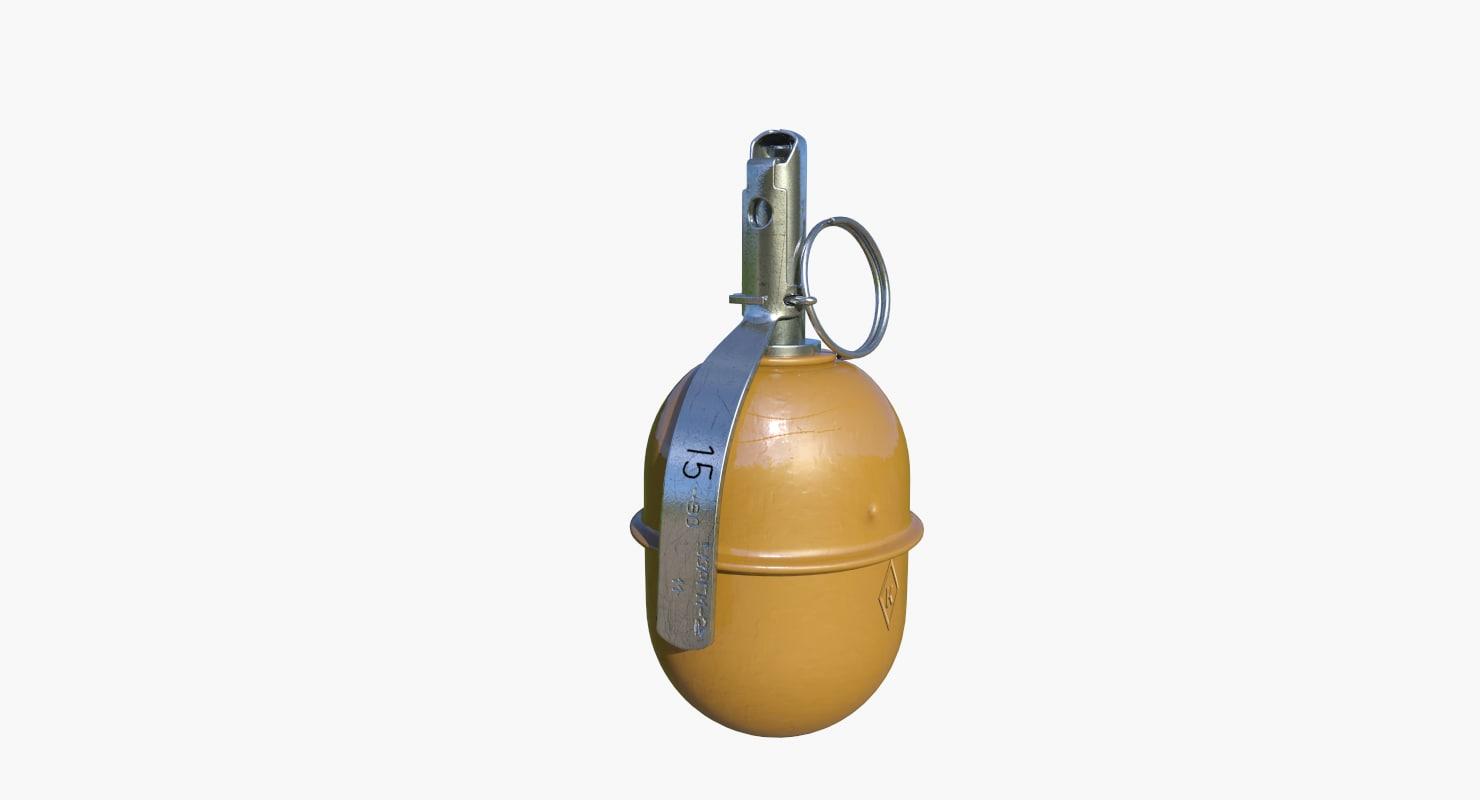 3d russian hand grenade rgd-5