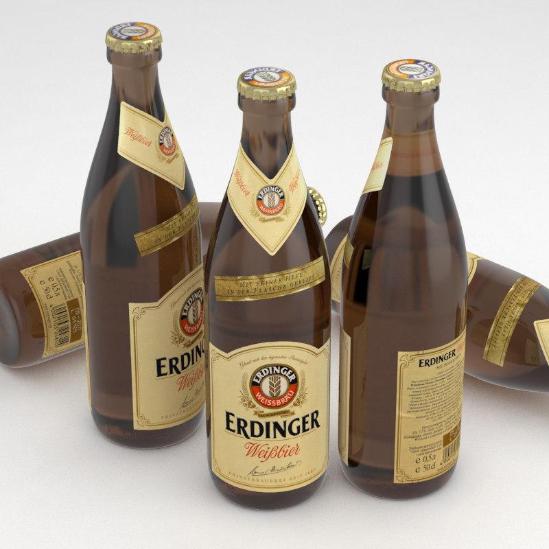 beer bottle bier 3d x