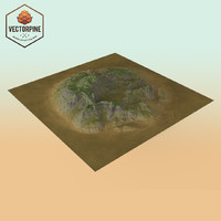 eroded highlands 3d model