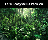 3d model fern ecosystems pack 24