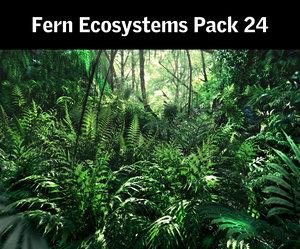 3d model fern ecosystems pack 24