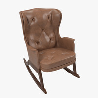 3d model vintage rocking armchair