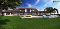 Dream House Architectural Modeling Firm Back View for your USA Property