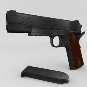 3d c4d m1911 pistol