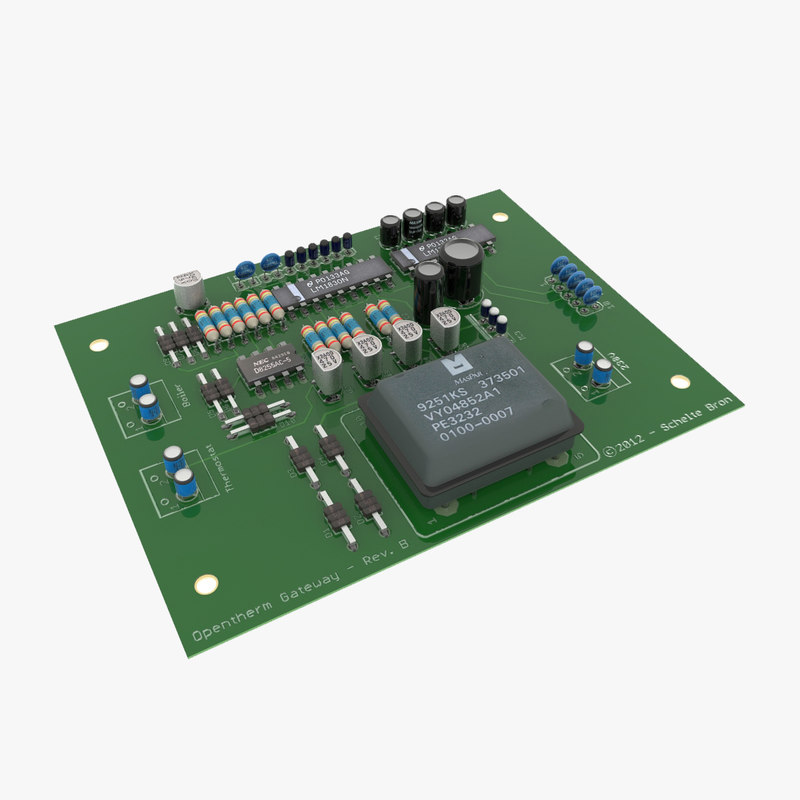 electronic components pcb 3ds