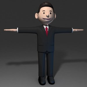 business man 3d model