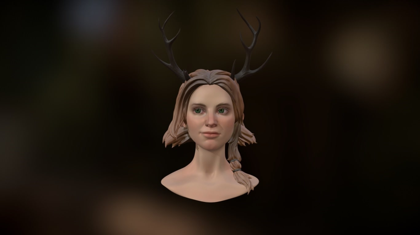3d girl deer