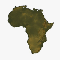 3d model relief africa