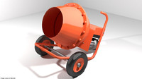 3d concrete machine mixer