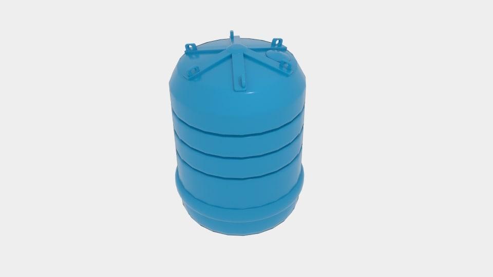 3d model carbery 5000 water tank