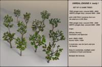 fantasy trees 1 pack 3d fbx