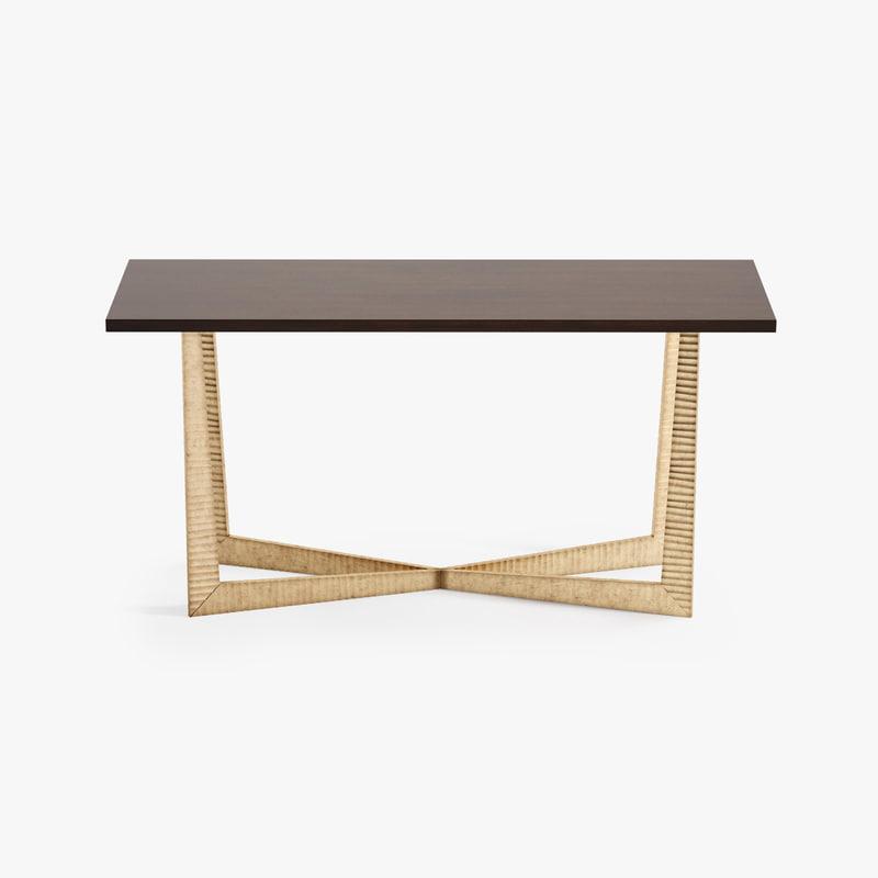 porta tapering x console table 3d max