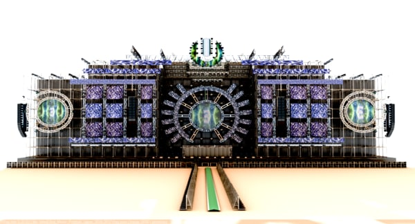 umf-ultra music festival japan 3d model