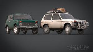 3d model vaz 21213 niva russian