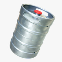 4k metal barrel beer 3d model