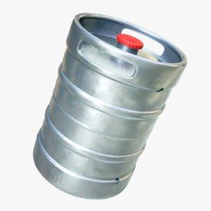 4k metal barrel beer 3d model