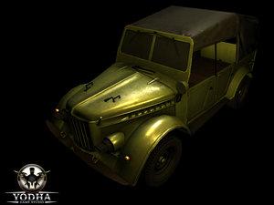 military combat vehicle obj