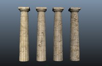 3d model of ancient greek doric temple