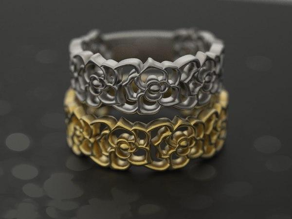 3dm wedding band rings