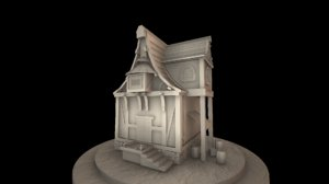 fantasy medieval house 3d x